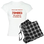 Zombies are chasing us! Women's Light Pajamas