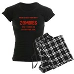 Zombies are chasing us! Women's Dark Pajamas