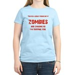 Zombies are chasing us! Women's Light T-Shirt