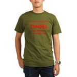 Zombies are chasing us! Organic Men's T-Shirt (dar