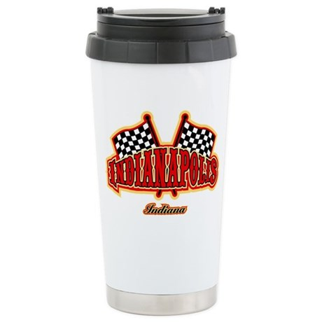 Indianapolis Flagged Stainless Steel Travel Mug