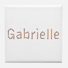 Gabrielle Pencils Tile Coaster