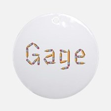 Gage Pencils Round Ornament