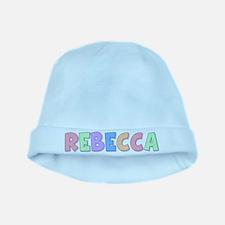 Rebecca Rainbow Pastel baby hat