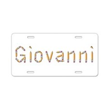 Giovanni Pencils Aluminum License Plate