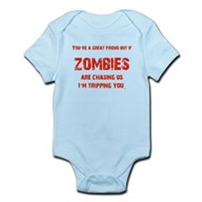 Zombies Chasing us! Infant Bodysuit