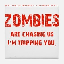 Zombies Chasing us! Tile Coaster