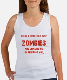 Zombies Chasing us! Women's Tank Top