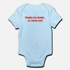 Zombies eat Brains! Infant Bodysuit