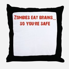 Zombies eat Brains! Throw Pillow