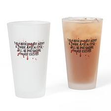 Zombie Apocalypse? Yes please! Drinking Glass