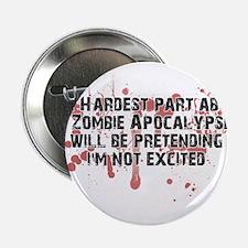 "Zombie Apocalypse? Yes please! 2.25"" Button"