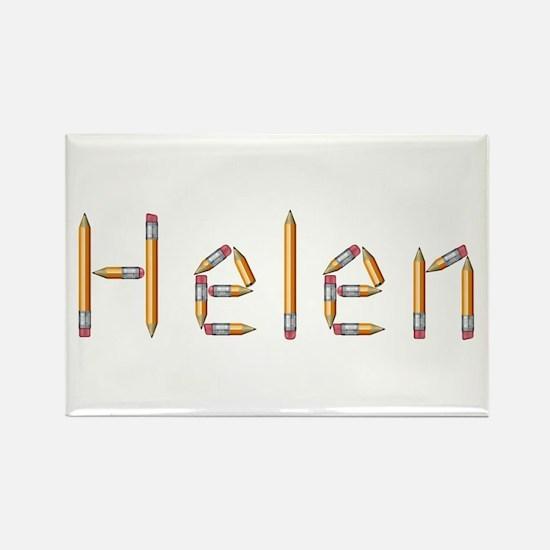 Helen Pencils Rectangle Magnet