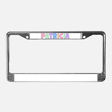 Patricia Rainbow Pastel License Plate Frame