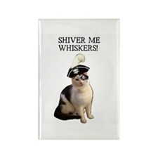 Pirate Cat 2 Rectangle Magnet (10 pack)