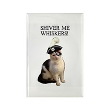 Pirate Cat 2 Rectangle Magnet