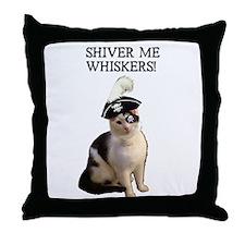 Pirate Cat 2 Throw Pillow