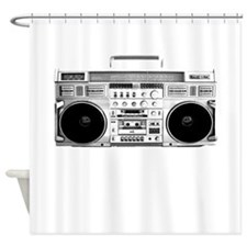 80s, Boombox Shower Curtain