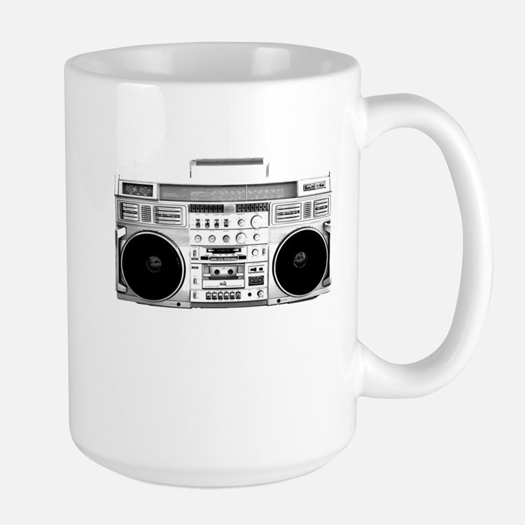 80s, Boombox Large Mug
