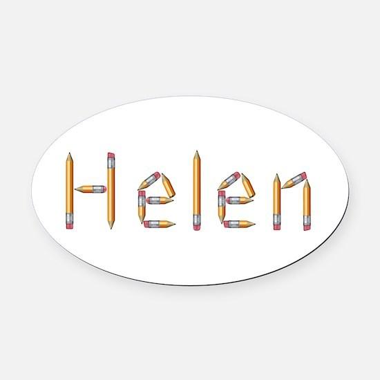 Helen Pencils Oval Car Magnet