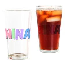 Nina Rainbow Pastel Drinking Glass