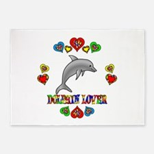 Dolphin Lover 5'x7'Area Rug