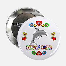 "Dolphin Lover 2.25"" Button"