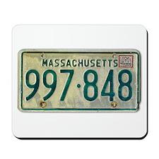 Massachusetts license plate Mousepad