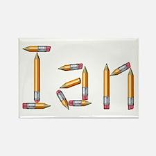 Ian Pencils Rectangle Magnet