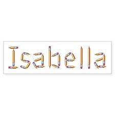 Isabella Pencils Bumper Bumper Sticker