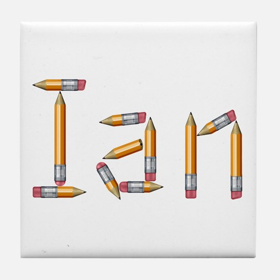 Ian Pencils Tile Coaster