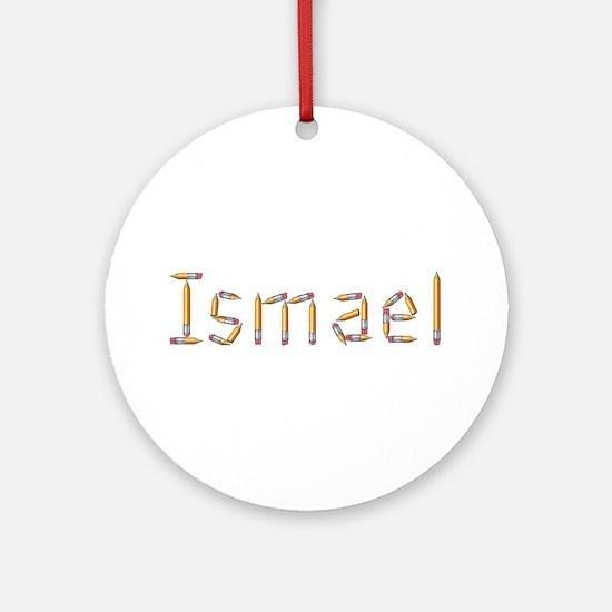 Ismael Pencils Round Ornament