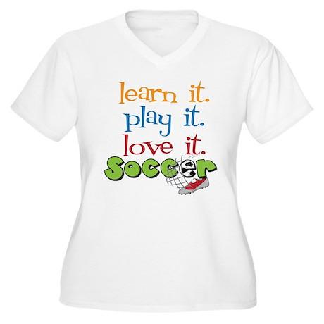 Learn It Women's Plus Size V-Neck T-Shirt