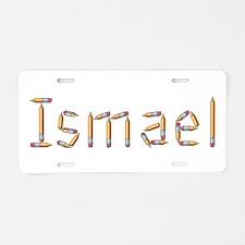 Ismael Pencils Aluminum License Plate