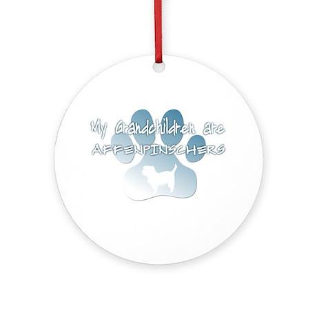 Affenpinscher Grandchildren Ornament (Round)