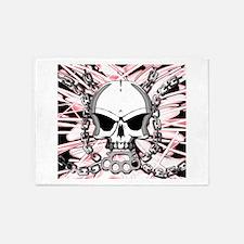 Brass knuckles skull 2 5'x7'Area Rug