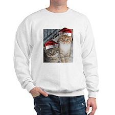 Christmas Tabby Cats Sweatshirt