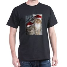 Christmas Tabby Cats T-Shirt