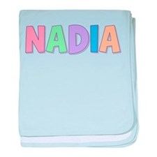Nadia Rainbow Pastel baby blanket
