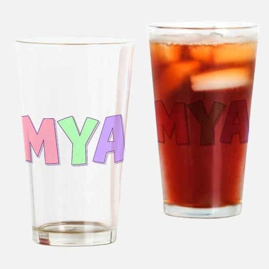 Mya Rainbow Pastel Drinking Glass