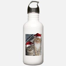 Christmas Tabby Cats Water Bottle