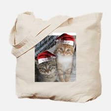 Christmas Tabby Cats Tote Bag