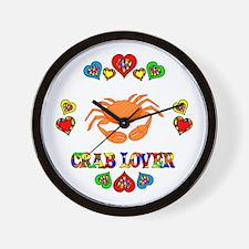 Crab Lover Wall Clock