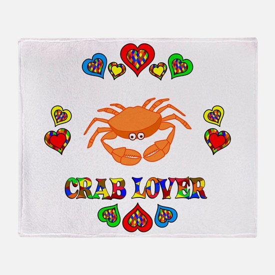 Crab Lover Throw Blanket