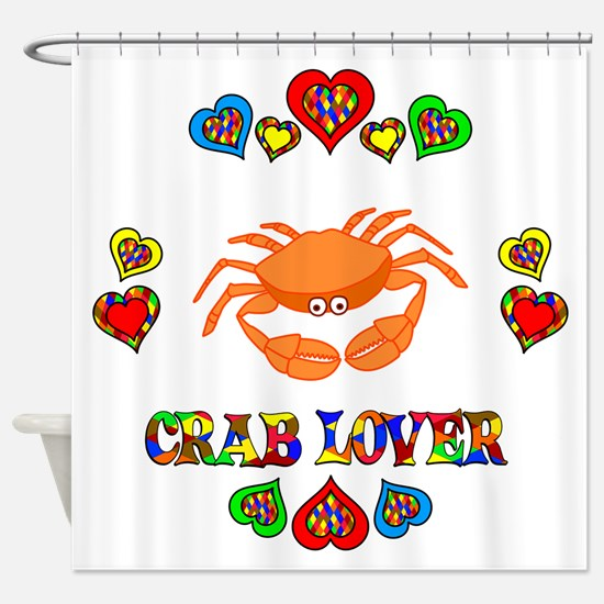 Crab Lover Shower Curtain