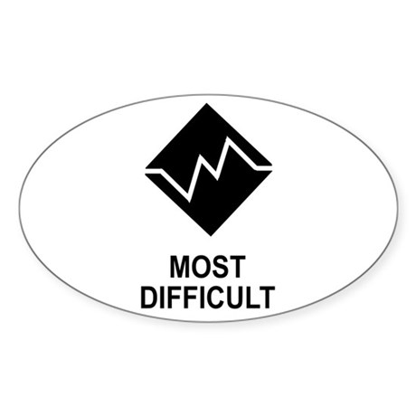 Most Difficult Trail Rating Sticker