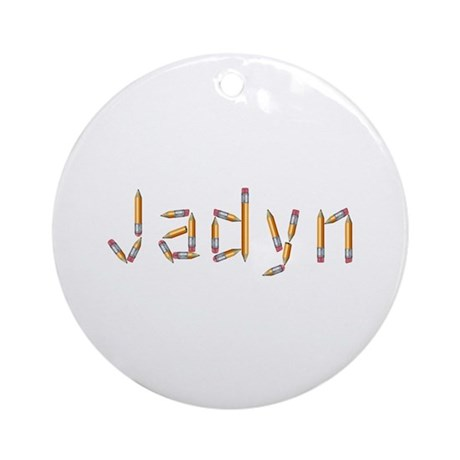 Jadyn Pencils Round Ornament