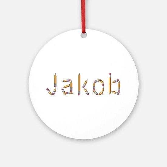 Jakob Pencils Round Ornament