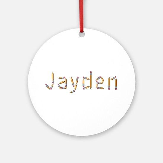 Jayden Pencils Round Ornament