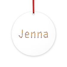 Jenna Pencils Round Ornament
